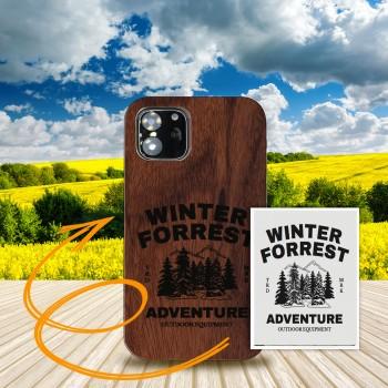 Cover in Legno Iphone 12 mini personalizzabile con foto incisione