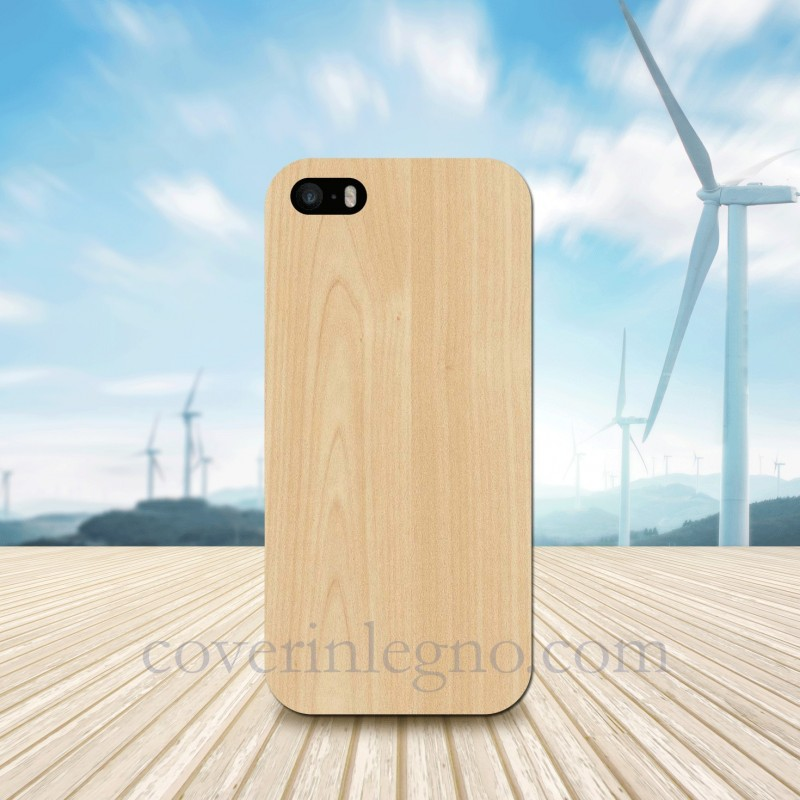 Cover in Legno Iphone 5 -SE personalizzabile con foto incisione