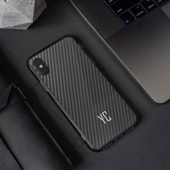 Cover in carbonio personalizzata con iniziali per iphone 11, iphone 12, iphone x , iphone XS