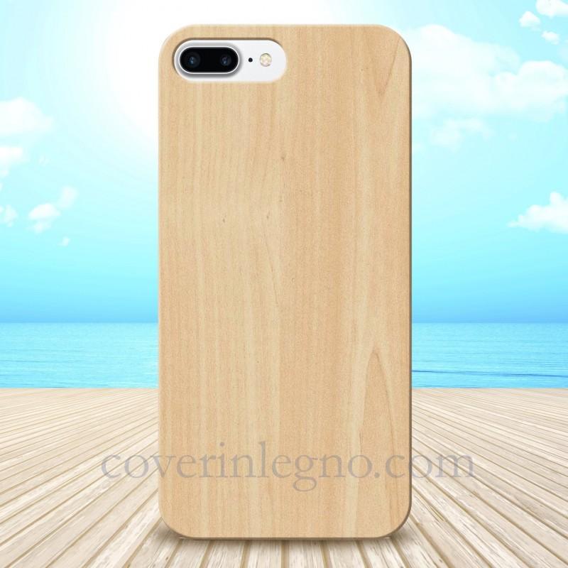 Cover in Legno Iphone 7-8 plus personalizzabile con foto incisione
